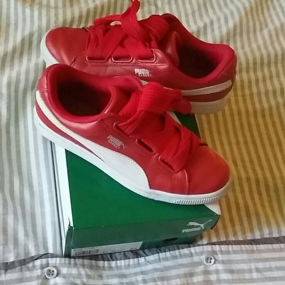 Basket Heart Red Sneakers Fat Laces